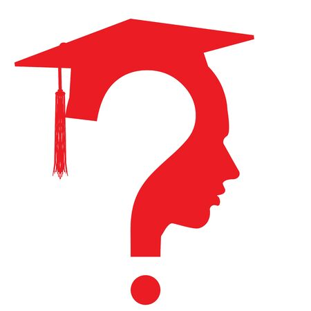 unsolvable: question mark head with Education Cup symbol