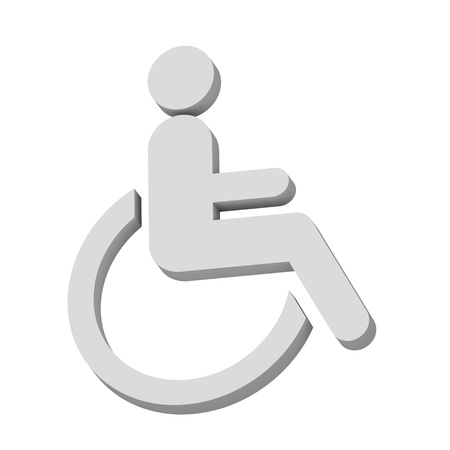 3D disabled icon  sign Stock Vector - 21034883