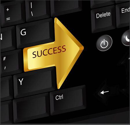 plainness: Success keyboard, arrow Illustration