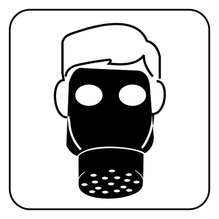 gas mask-safety equipment  symbol Vector