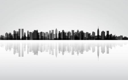 Colorful City New York panorama Illustration