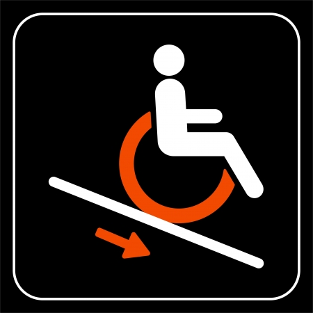 accessible: lift disabled icon  sign Illustration