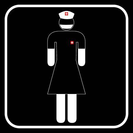 nurse surgery symbol Stock Vector - 21003312