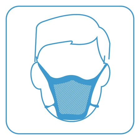 hospital mask-safety equipment  symbol Vector