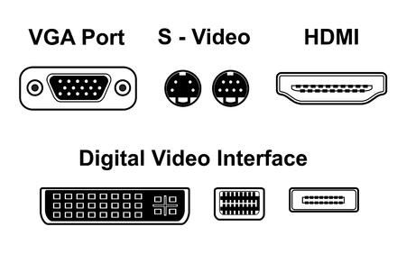 ports vidéo Vecteurs