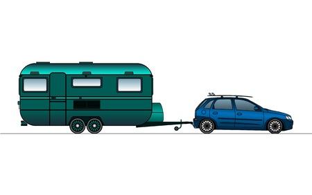 Caravan or camper van Stock Vector - 21035060