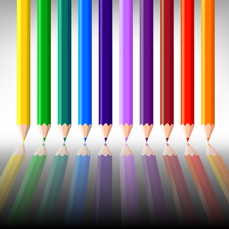 colorful pencil, background Stock Vector - 21035076