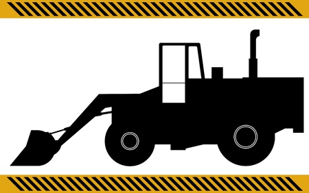 earthmoving: Loader excavator construction machinery equipment isolated