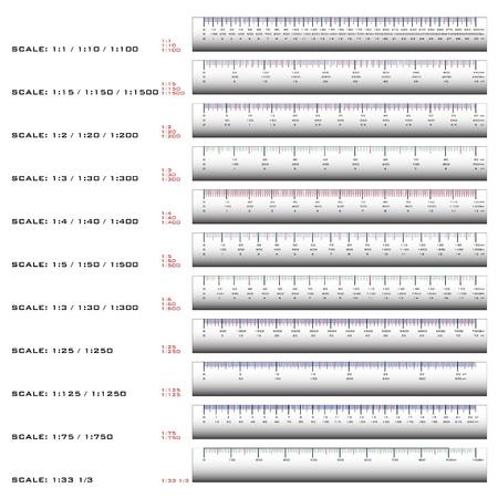 Dispensing dimension rulers in millimeters.  Stock Vector - 21035124