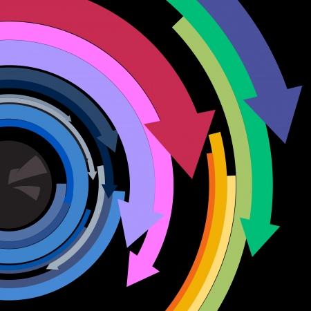 eye with arrow Vector