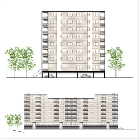 habitation: facade. Habitation building
