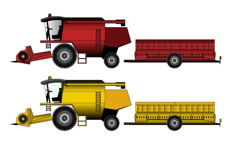 agricultural equipment: harvester tractor agricultural equipment Illustration