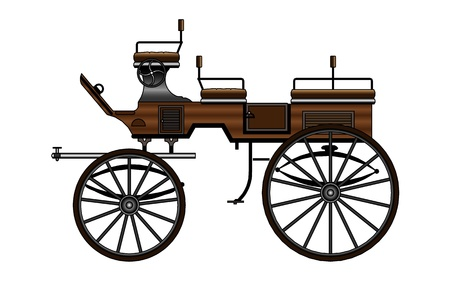 old horse: Horse Carriage Illustration