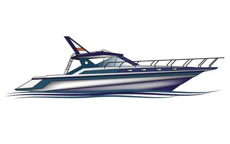 deportes nauticos: Yates de Lujo Vectores