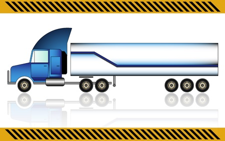 Semi truck, isolated  Stock Vector - 21035245