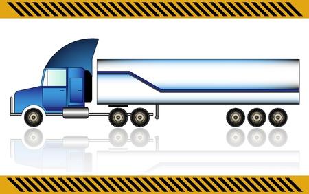 Semi truck, isolated Stock Vector - 21035245