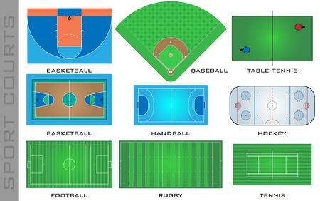 baseball stadium: Sport courts Illustration