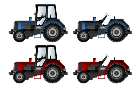 agricultural machinery, tractors Stock Vector - 21035356