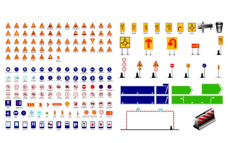 traffic signs collection with name Stock Vector - 21035358