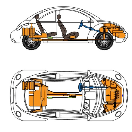 axle: The most important parts of the car, vactor Illustration