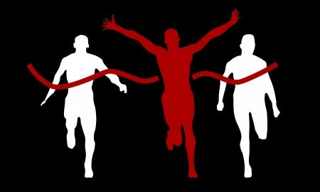 body line: winner on finish line Illustration