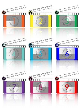 colorful Film countdown  Illustration