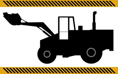 Loader excavator construction machinery equipment isolated Stock Vector - 21035462