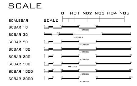 Dispensing dimension rulers in millimeters. Stock Vector - 21035467
