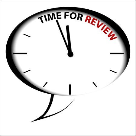 recap: Bubble Clock Time for review Illustration