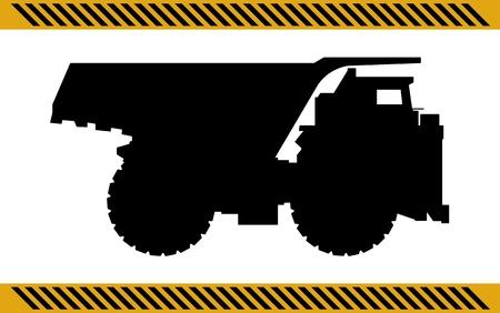 dump truck: Dump truck construction machinery equipment isolated  Illustration