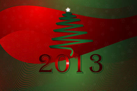 2013 New Year card Vector