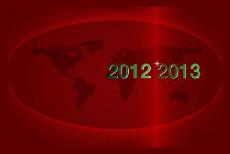 2012-2013 The Years Passing. New Year on the world globe Vector