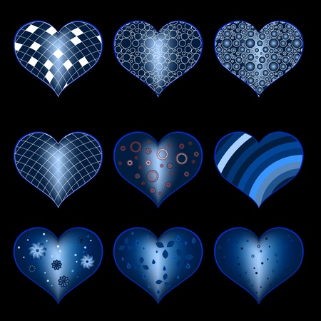 Set of symbol heart Stock Vector - 21324640