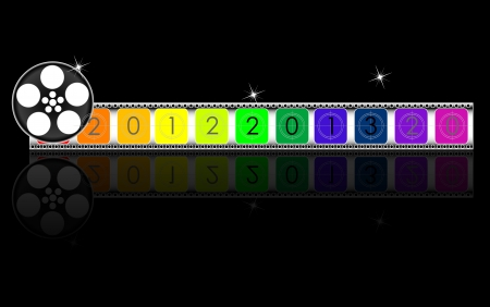 colorful 2013 year Film countdown Vector