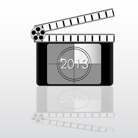 colorful 2013 year Film countdown Stock Vector - 21324669