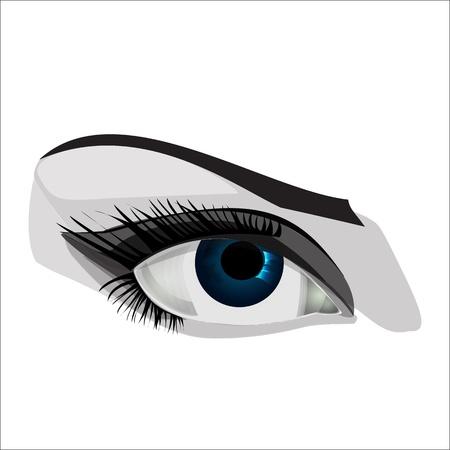 Woman eye illustration