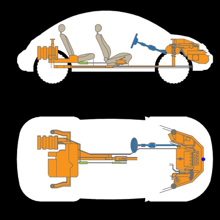 The most important parts of the car, vactor Illustration
