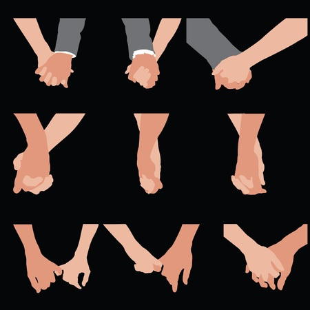 loving hands: couples holding hands