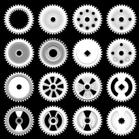 Set of gears Stock Photo - 21724103