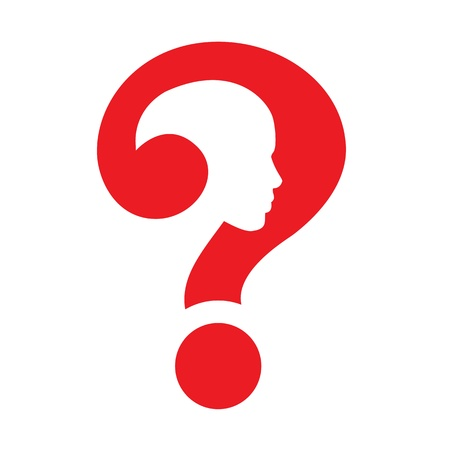 question mark human head symbol Stock Photo