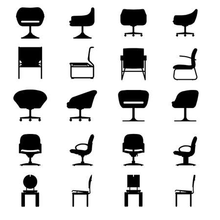 leather chair: Set of Modern chair