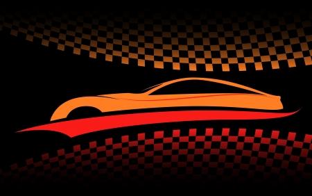 sports car: red-orange car symbol