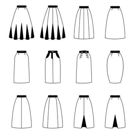 skirts: set of woman skirts