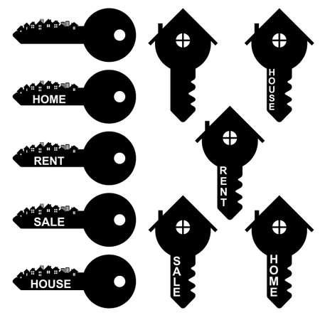 Key symbol, vector Vector