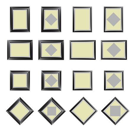 bordering: Marcos rectangulares, vector