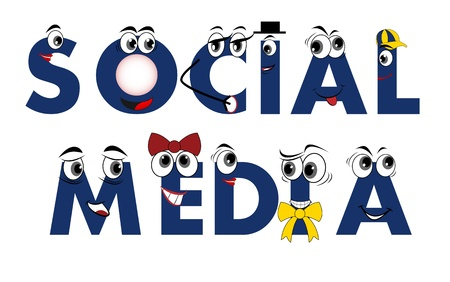 Social Media characters - network, vector Vector