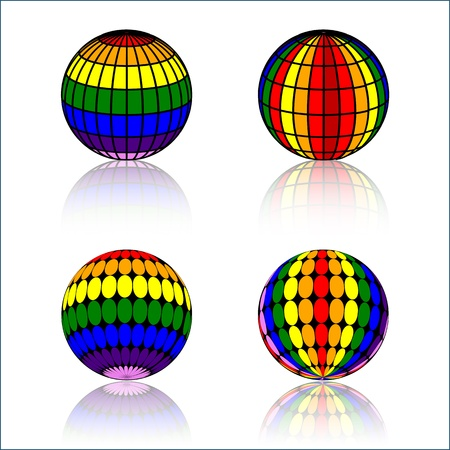 colorful Sphere Stock Vector - 22065959