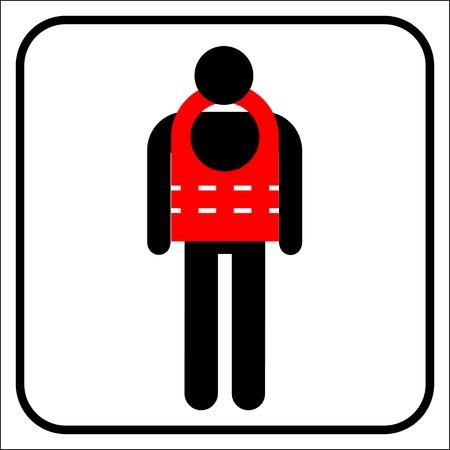 life jacket: life jacket  Illustration