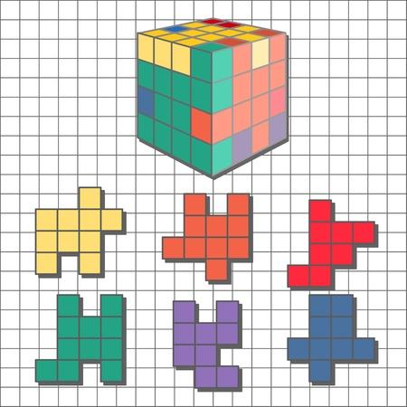 tetris: Puzzle tetris cube