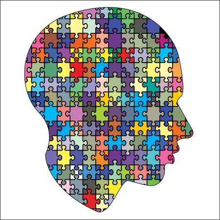 incomplete: jigsaw head Illustration